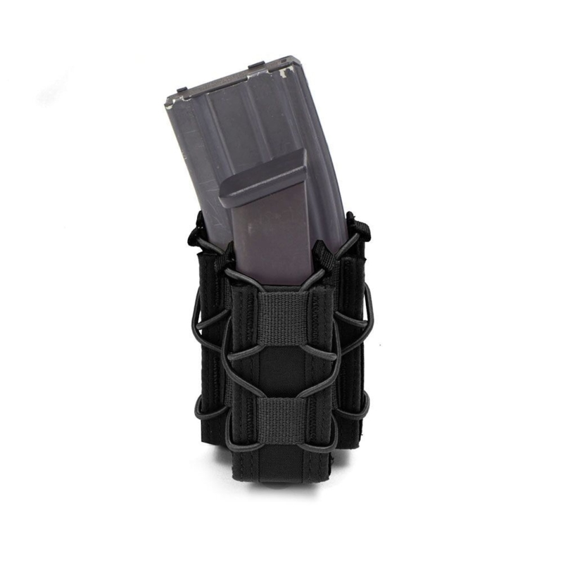 Warrior Elite Ops MOLLE Single Quick Mag with Single Pistol Pouch (BLACK)