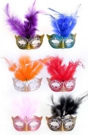 mini masker met veren