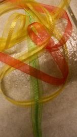 organza lint rood/geel/groen