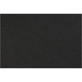 vilt 3mm   zwart 42 x 60 cm