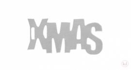 X-MAS label zilver