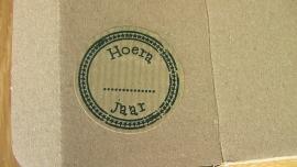 Sticker  Hoera...jaar  van Noor!Design