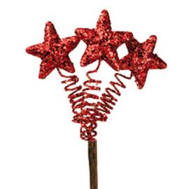steker sterretjes rood glitter