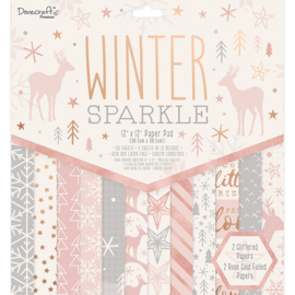 Dovecraft Winter Sparkle 12x12 Inch Paper Pad