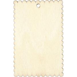 houten label met golfrand