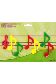kunststof muzieksleutel met noten