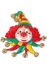 wanddeco clown rood/geel/groen