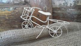 mini ijzeren fiets | wit