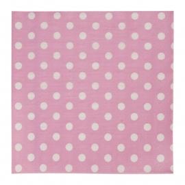 papieren servetten roze met stippen