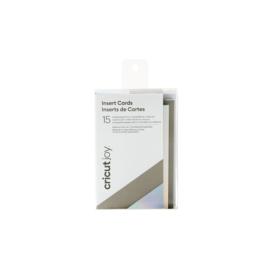 Cricut Joy ™ insteekkaartjes Klein, grijs / zilver holografisch