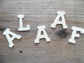 houten letters 4 cm  | ALAAF