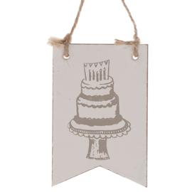 houten hanger vlag | Birthday Cake