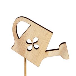 houten mini gieter op stok