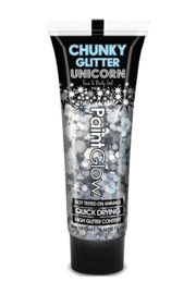 Chunky Glitters face & body gel | zilver
