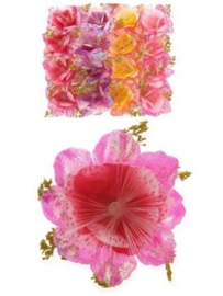 bloem met fiberlicht
