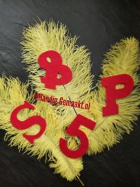 rode 4-delige set | S & P 5