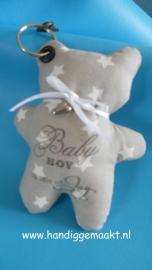 sleutelhanger baby boy licht grijs