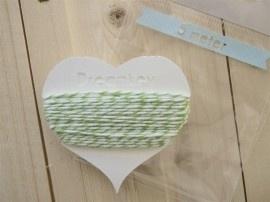 5 meter Divine touw / bakkerstouw met kaartje | groen