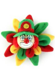 broche clown op bloem