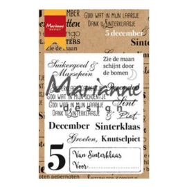 Marianne Design clear stamps vijf december