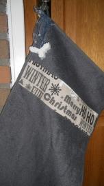 Kerst gastenhanddoek met zeep | grijs