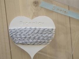 5 meter Divine touw / bakkerstouw met kaartje | grijs