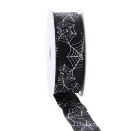 lint zwart met spinnenweb
