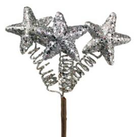 steker sterretjes zilver glitter