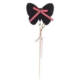 krijt vlinder op stokje