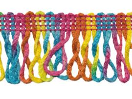 franjeband gedraaid multicolor