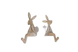 houten konijn | zittend M
