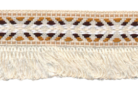 creme franjeband aztec-stijl