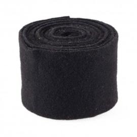 wolband zwart 15 cm breed