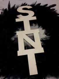houten tekst : sint