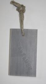 zeep label badkamer grijs