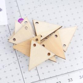 mini houten vlaggetjes | 10 stuks