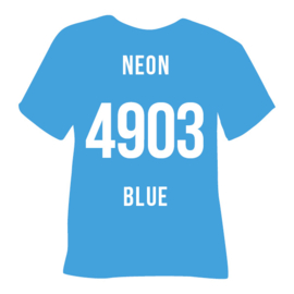 Poli-flex turbo  neon blauw | 50 x 14 cm