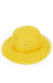 organza hoed geel/goud