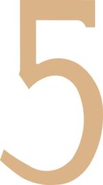 MDF cijfer 5 (21,8cm)