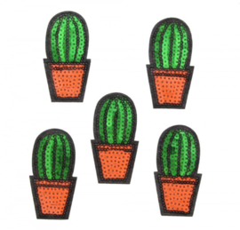 patch/applicatie cactus bol in pot