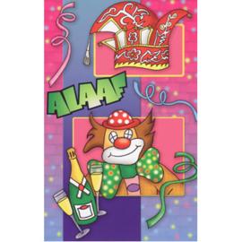 carnavalskaart alaaf clown