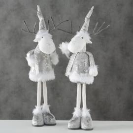 staand rendier | zilver kleur