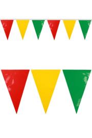 pvc mini vlaggenlijn rood/geel/groen
