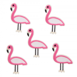 patch/applicatie flamingo roze wit