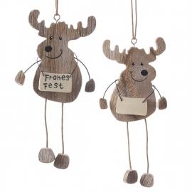 houten rendierhangers