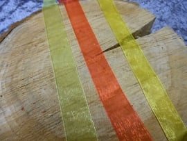 organza lint | rood/geel/groen