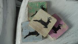 houten blokje rendier/hert