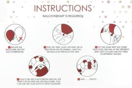 ballon deco kit rosé goud/wit
