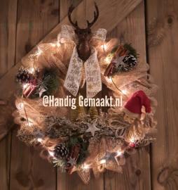 kerstkrans uit eigen atelier