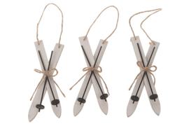 hanger houten ski wit